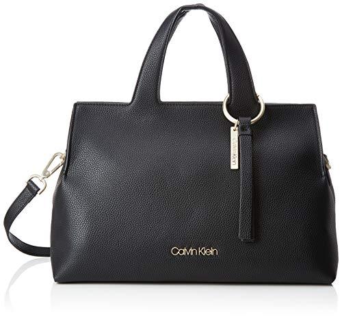Calvin Klein Jeans Damen Neat Large Tote Schultertasche, Schwarz (Black), 20x25x36 cm -