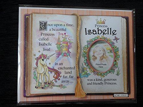 Geschenk für Isabelle Prinzessin Einhorn Halterung mit Bilderrahmen Special Vers und Auswahl der