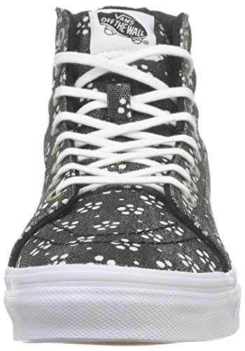 Vans Sk8-hi Slim, Sneakers Hautes Mixte Adulte Noir (Batik/Black)