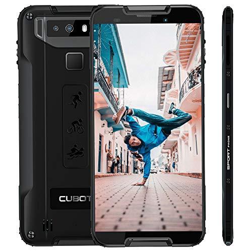"Cubot Quest Android 9.0 4G Dual SIM IP68 Wasserdicht Sport Outdoor Smartphone ohne Vertrag 4000 mAh Akku 4GB +64GB 5.5\"" HD+ Display NFC Fingerabdrucksensor Gesicht ID Robustes Smartphone (Schwarz)"