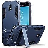 2017 Galaxy J7 Tasche, Terrapin Silikon + Polycarbonat Hülle mit Standfunktion für Samsung Galaxy J7 2017 (Version J730F) Hülle - Dunkelblau