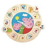 Best Peppa Pig Relojes para niños - Peppa Pig - Puzzle y Reloj de Madera Review