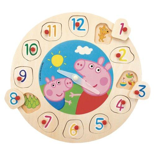 Peppa Pig - Puzzle y reloj de madera (Simba 7216)