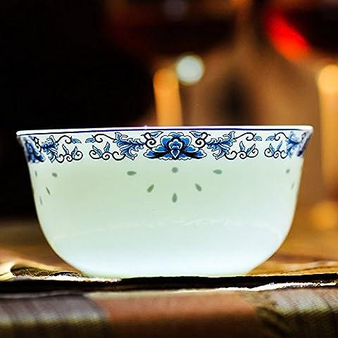 Yifom Bone China ciotola ciotola di smalto - Bone Doppia Bowl