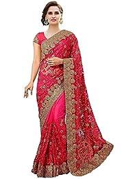 Zanasya Net Saree (Pink)