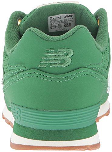 New Balance 574, Baskets Basses Mixte Enfant Vert (Green)