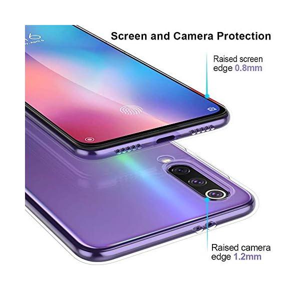 Oihxse Funda Xiaomi Redmi 7A, Ultra Delgado Transparente TPU Silicona Case Suave Claro Elegante Creativa Patrón Bumper… 4
