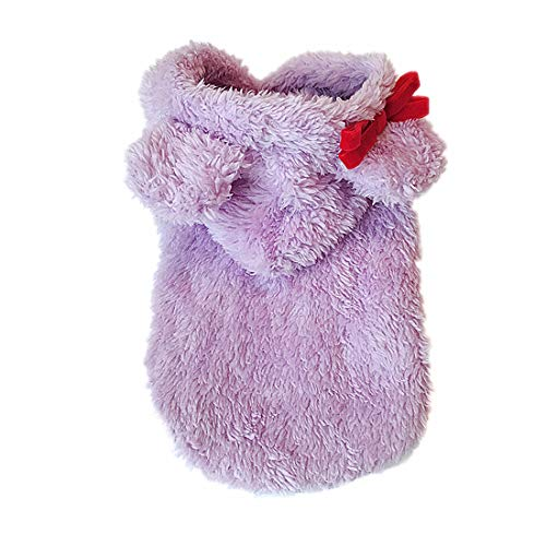Kostüm Plus Affe - PZSSXDZW Im Herbst und Winter warm Welpenkleider Teddy-Kleidung Pet Kleidung Kleine Hundekleidung Kleidung gegen das Gesetz Plus Samt Purple X-Large