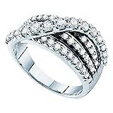 Damen Ring / Verlobungsring 1.00 Karat 14 Karat Weißgold 1 Karat
