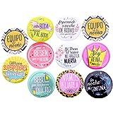 DISOK - Lote 10 Chapas Frases Wedding - Chapas Pins para Bodas