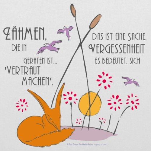 Spreadshirt Der Kleine Prinz Freundschaft Den Fuchs Zähmen Stoffbeutel Weiß