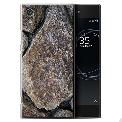 Stuff4 Gel TPU Hülle / Case für Sony Xperia XA1 / Große Steinmauer Muster / Stein/Rock Kollektion (Lrg-rock)