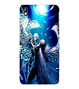 ColourCraft Angels Couple Design Back Case Cover for HTC DESIRE 816
