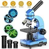 Emarth Mikroskop für Kinder Anfänger Jugendliche Studenten, 40X - 1000X Wissenschaftliches Mikroskop mit 52-teiliges Science Kit-tolles