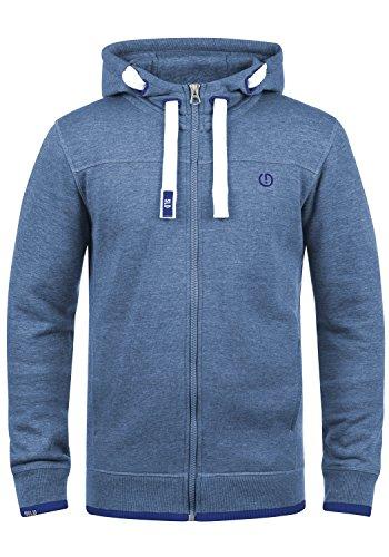 SOLID BenjaminZip Herren Sweatjacke Kapuzen-Jacke Zip-Hoodie aus hochwertiger Baumwollmischung, Größe:M, Farbe:Faded Blue Melange (1542M)