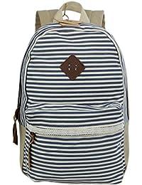 32c7b0b17eab7 Koolertron Neu Damen Vintage Canvas Rucksack Retro Rucksack Vintage für  Outdoor Sports Rucksack Uni Rucksack Universität Geeignet für…