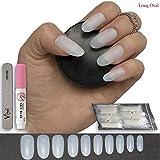 600 Stück lange ovale Nägel 10 Größen - Geeignet für Salon verwenden & DIY Nail Art ♥ FREE KLEBER ♥ & ♥ kleine Prep Datei ♥