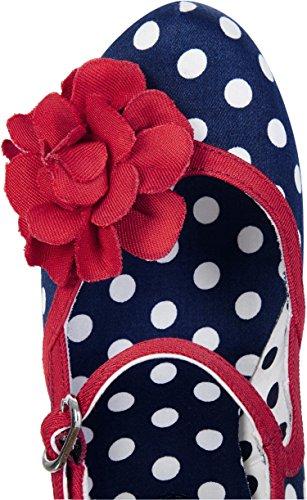 Ruby Shoo Damen Schuhe Hannah Punkte Rosen Pumps Blau 39 - 3