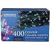 The Christmas Workshop 400 LED Chaser String Lights, Multi-Coloured