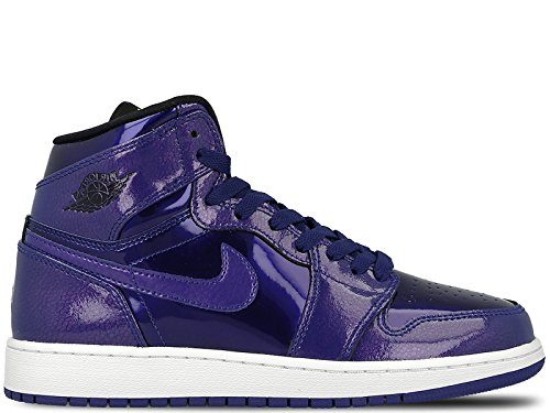 Jordan Unisex-Kinder Air 1 Retro High BG 705300-420 Basketballschuhe, Blau (Deep Royal Blue/Black White), 38.5 EU (Retro Jordan Große Air Kinder)