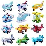 Domybest Multi-Muster Kreatives Spielzeug Mini-Holz-Flugzeug-Kind-Baby pädagogisches