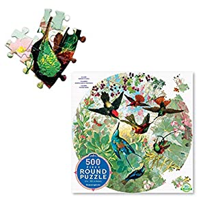 eeBoo-Puzzle 500Piezas Redondo-colibrí