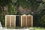 Hochbeet Erweiterung 3-tlg. aus Weide 80 x 80 x 80 cm
