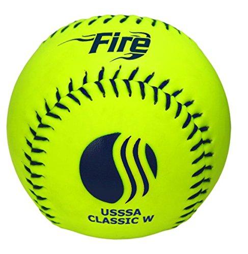 Baden USSSA Classic W Softball mit Softball-Überzug, 27,9 cm, 1 Dutzend