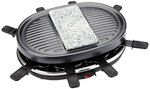 Preisvergleich Produktbild SUNTEC Raclette RAC-9097 [Für 8 Personen, Antihaftbeschichtung, extra Granit-Steinplatte, 900 Watt]