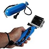 wortek GoPro Float Handstativ GoPro Hero 1, 2, 3, 4, 4+ / Hero 3+ für Wassersport, Tauchen etc. Blau