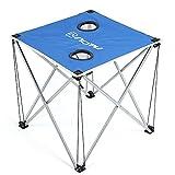 Inovey Plein Air Bureau Table Voyage Plage Portable Pliable Bureau De Pliage Pour Le Camping Randonnée - Bleu
