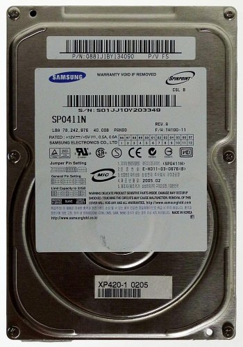Samsung 40 Gb Festplatten (40GB AT HDD Samsung SP0411N IDE ID4719)