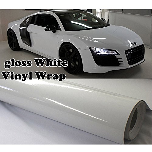 Hoho lucido bianco Car Wrap vinyl film 152,4x 30,5cm tinta auto