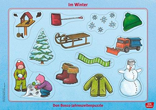 Im Winter: Don Bosco Jahreszeitenpuzzle (Don Bosco Jahreszeitenpuzzle für Familie, Krippe, Kita und Eltern-Kind-Gruppe)