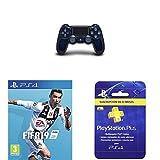 Sony Dualshock - Mando Edición Limitada, azul oscuro + FIFA...