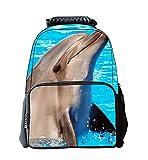 EssVita Niño Niña mochila casual 3D Animales Imprimir morral de la escuela bolsas para portátiles Mochila Senderismo (Delfín)