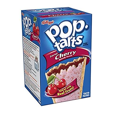 Kelloggs Pop-Tarts Blueberry Cherry Raspberry Chocolat Smore Cookies and Creme Cinamon Rolls Chip Confetti Cupcake Brown Sugar Fugde Sunday Grape Strawberry (Cherry Frosted)
