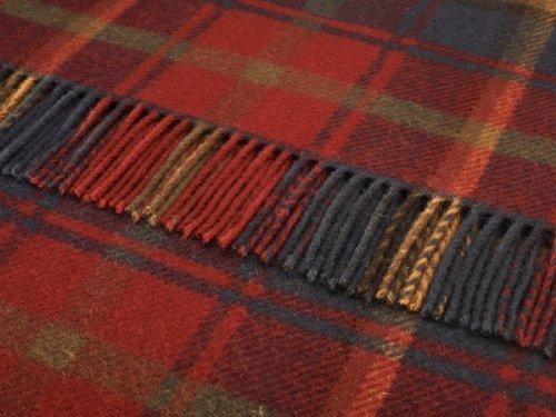 Arce Oscuro de cuadros tartán lana rodillas manta de viaje manta - Tweeds De Las Tierras Altas