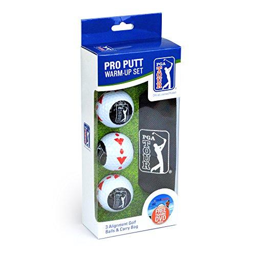 PGA Tour Pro Putt formación Hombres Pelotas de Golf (3 Unidades) - Blanco