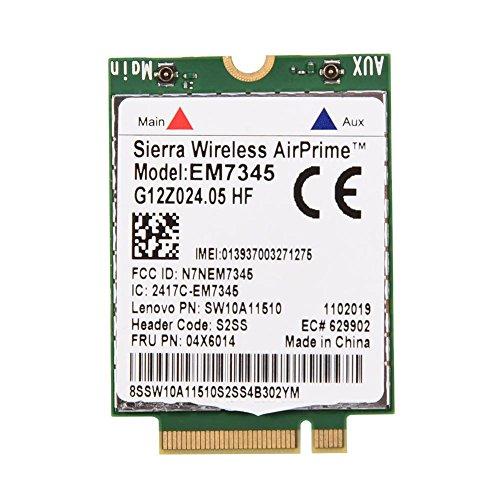 WWAN Karte, EM7345 4G LTE Mobile Broadband Kompatibel für ThinkPad Unterstützt die EMEA-Länder, Australien und Neuseeland
