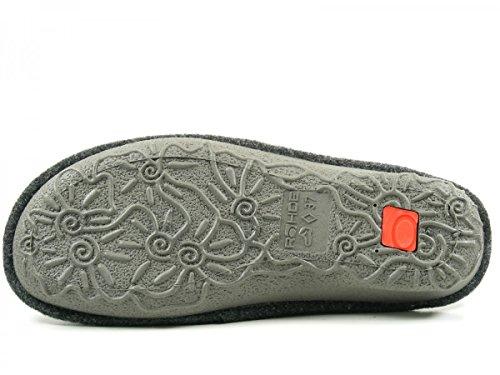 Rohde signore Slipper 2268-85 nebbia grigia, Gr. 38-40, Softfilz Grau
