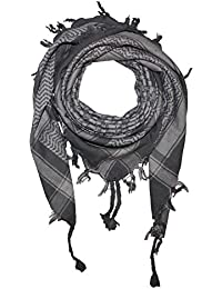 Freak Scene Superfreak® Pañuelo pali de dos colores especial°chal PLO°100x100 cm°Pañuelo palestino Arafat°100% algodón – gris/beige