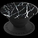PopSockets Ausziehbarer Sockel und Griff für Smartphone/Tablet Schwarz Marble