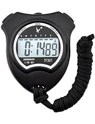 Ckeyin® Cronometro Digital Temporizador con Alarma especial para control de tiempos en Deporte Atletismo Natacion Ciclismo etc