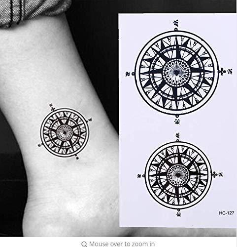 ruofengpuzi Frauen Wasserdicht Black Butler Temporäre Tätowierung Aufkleber Vertragssymbol Kompass Tattoo Aufkleber Tattoo Fake Tattoo Man