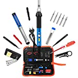 Kit Soldador, Volador Newest 16 in1 Kit de Soldador Eléctrico, 60W Soldador Eléctrico de Estaño With Portable Switch And Adjustable Temperature For DIY or Electrical Repairs Professional Enthusiast