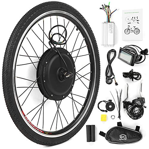 Walmeck- 26x1,75 \'\' Electric Bike Conversion Kit Fahrrad Hinterradnabenmotor Kit E-Bike LCD Display Motor Kit Brushless Controller PAS Signalleuchte Fahrradbremssensor Kit (48V 1500W)