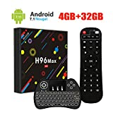 [2018 Version] UKSoku H96 Max TV BOX Android 7.1 RK3328 Quad-Core 64bit 4GB
