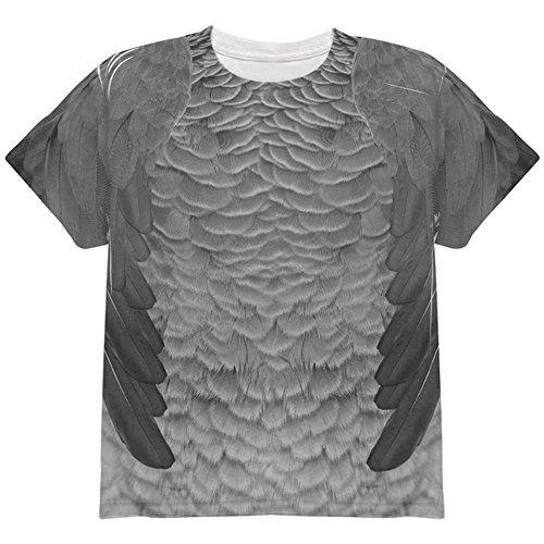 he Grau Papagei Kostüm auf der ganzen Jugend T Shirt Multi YSM (Papagei Halloween-kostüme)