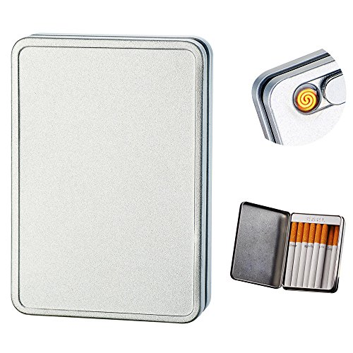 Pantheraa USB Cigarette Electric Lighter Rechargeable Windproof Flameless Kerosene Lighter ArcLighter Set Free Gift for Cigarette Holder